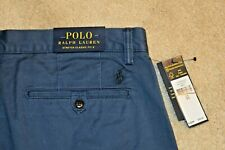 NWT $75 POLO RALPH LAUREN Men's Flat Front Classic Fit Chino Shorts Blue Size 33