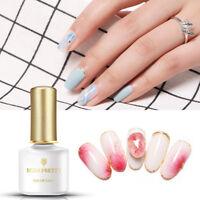 BORN PRETTY 6ml White Clear Cream Blooming Soak Off UV Gel Nail Art Gel Polish