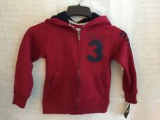 Nautica 83 Spell Out  Kids Boys Hoodie Zip Jacket Hood Red Size S/C (4) NWT NEW