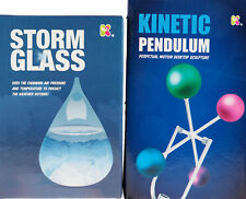 Set Of 2 Older Kids Science Gift Set- Storm Glass And Perpetual Kinetic Pendulum
