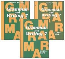 Grade 7 Saxon Grammar & Writing Homeschool Kit 7th Language Arts Curriculum