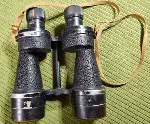 Vintage WW2 British ROSS OF LONDON Bino Prism No 5 Mk. IV 735 GA 7x50 Binoculars