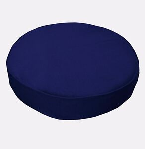 Aw17r Royal Blue High Quality 12oz Thick Cotton 3D Round Cushion Cover Custom Sz