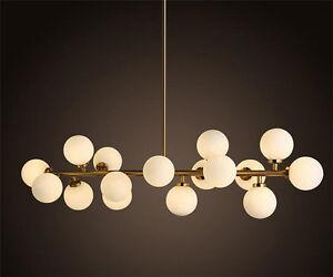 Modern Round Glass DNA LED Bronze Chandelier Pendant Lamp Ceiling lamp Fixture