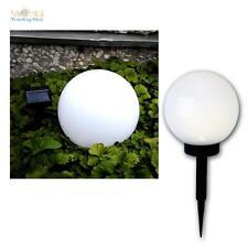 Solar LED Kugelleuchte Ø20cm, Garten-Lampe Kugellampe Außen Leuchte Kugel LEDs