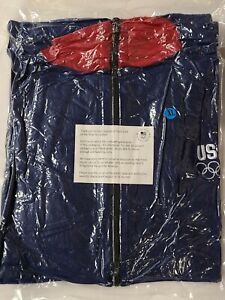 Team USA Olympics 2012 London Fleece Jacket XL Full Zip Blue Red Collar