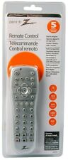Zenith Universal Remote Control, 5 Devices, LCD+ more,incl. AUDIO SYSTEM codes!
