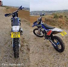 "7"" x 5"" Flexible Motorbike Show Number Plate Motorcycle Flexi Enduro Motocross"