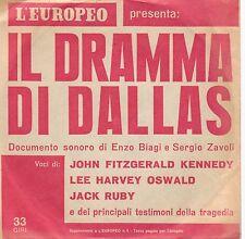 disco 45 GIRI L'EUROPEO PRESENTA: IL DRAMMA DI DALLAS Enzo BIAGI S. ZAVOLI FLEXY