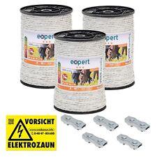 Elektroband Weidezaunband Breitband Elektrozaun 20mm x 200m 0,08€//m bis 5km Zaun
