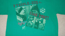 A Christmas Story Triple Dog Dare Tongue Stuck On Flagpole T-Shirt Size Med