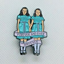 Forever and Ever and Ever Twins The Shining Horror Movie Enamel Pin Badge