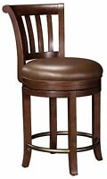 Howard Miller 697-010 (697010) Ithaca Pub Stool with Seat Cushion,Hampton Cherry
