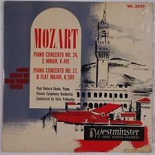 MOZART: Piano Concerto BADURA-SKODA Westminster WL 5097 ORIG 50s DG Vinyl LP