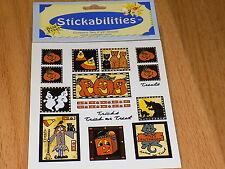Pumpkins Ghosts Halloween Witch sticker Scrapbook Teacher STICKERS Sealed