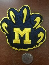 """University Of Michigan Wolverines Vintage Embroidered Iron On Patch 3"""" X 3"""""""