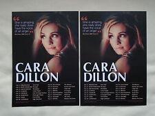 CARA DILLON/Equation Live in Concert 2013 UK Tour Promo tour flyers x 2