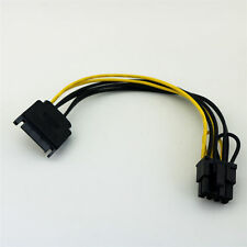 SATA 15Pin Male to PCI-E Express 6+2 Pin 8 Pin Video Power Adapter Cable 20cm AA