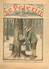 Sugar Maple Syrup Sirop d'Erable Fabrication au Sucre Canada 1934