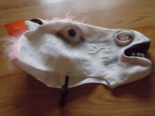 Adult One Size Hyde and Eek White Pink Unicorn Halloween Costume Mask New