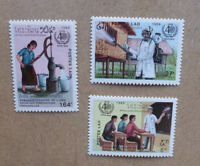 1988 LAOS 40TH ANNIV. WORLD HEALTH ORGANISATION SET 3 OF MINT STAMPS MNH