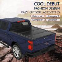 Hard Tri-Fold Tonneau Cover For 14-19 Chevy/GMC Silverado/Sierra 6.5ft Bed Black
