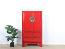chinesische Kommode Sideboard 2 Schubladen 2 Türen rot #M-KOM-Yh47