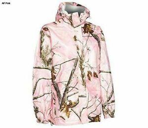 Realtree Storm Seeker AP Pink Camo Zip Up Hoodie Rain Jacket Size Sm/Med or L/XL