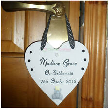 Personalised Bridesmaid Wooden Heart Plaque Sign Wedding Keepsake