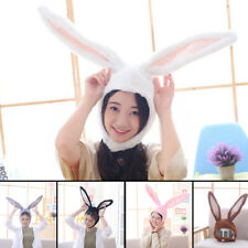 KF_ Cute Girls Plush Rabbit Bunny Ears Hat Head Warmer Earflap Cap Photo Suppl