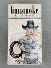 RARE Vintage THE WOMAN GUNSMOKE LIGHTS Empty Cigarette Sealed Pack DISPLAY ONLY