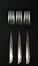 Oneida Community Stainless three 3 salad forks Discontinued 1959