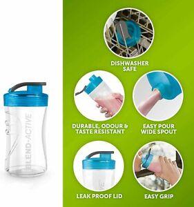 Single Breville Blend Active Spare 300ml Bottle BPA Free Blue VBL128 Blend & Go