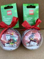 LEGO Santa & Reindeer  Holiday Ornaments Brand New Sealed