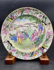 New listing Fine Antique Chinese Famille Rose Eight immortals Figure plate