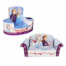 Marshmallow Furniture Comfy Foam Toddler Couch & Chair Package, Disney Frozen 2