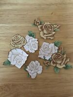 Pretty Victorian Roses - 4 - Iron-On Appliques  (B)