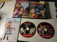 Resident Evil Code Veronica & x-2 (Sony Playstation 2) FOR PARTS- READ!