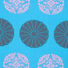 """1 yard 18 inches AMY BUTLER """"CAMEO"""" PRESSED FLOWERS Sky"""