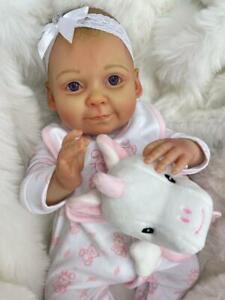 "CHERISH DOLLS CHILDS STARTER REBORN BABY GIRL GRACE 16"" FULL LIMBED SOFT BODY"