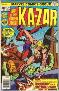 KA-ZAR, Lord Of The Hidden Jungle Volume 1, No. 20, 1976 by Marvel Comics