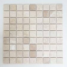 Mosaikmatte Quadrat uni Botticino Anticato Wand Boden Aussen 305 x 305 mm