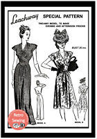 1940s Wartime Cocktail or Evening Dress Sewing Pattern - Copy