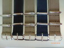 Canvas Strap Leinen Uhrband 18mm versch. Farben Edelstahl Dornschließe Nato Zulu