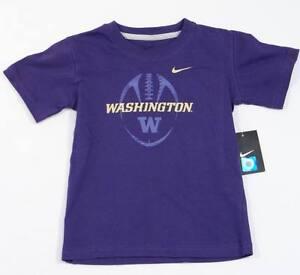 Nike Washington Huskies Purple Short Sleeve Tee T Shirt Little Boys Sizes NWT