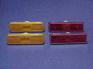 1972-UP NOS MoPar RED/AMBER Marker Cuda Dart Charger