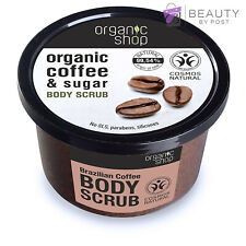 Organic Shop Body Scrub Brazilian Coffee and Sugar Paraben FREE