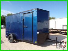 6 X 12 12ft Cargo Enclosed Utility Tool Work Motorcycle Lawn Mower Trailer Tx Ok