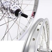 Free Agent BMX Wheel Rear 3//8 20x1.75 Silver or White 16T Cassette
