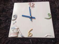 Keramik-Porzellan - Küchen  Wanduhr